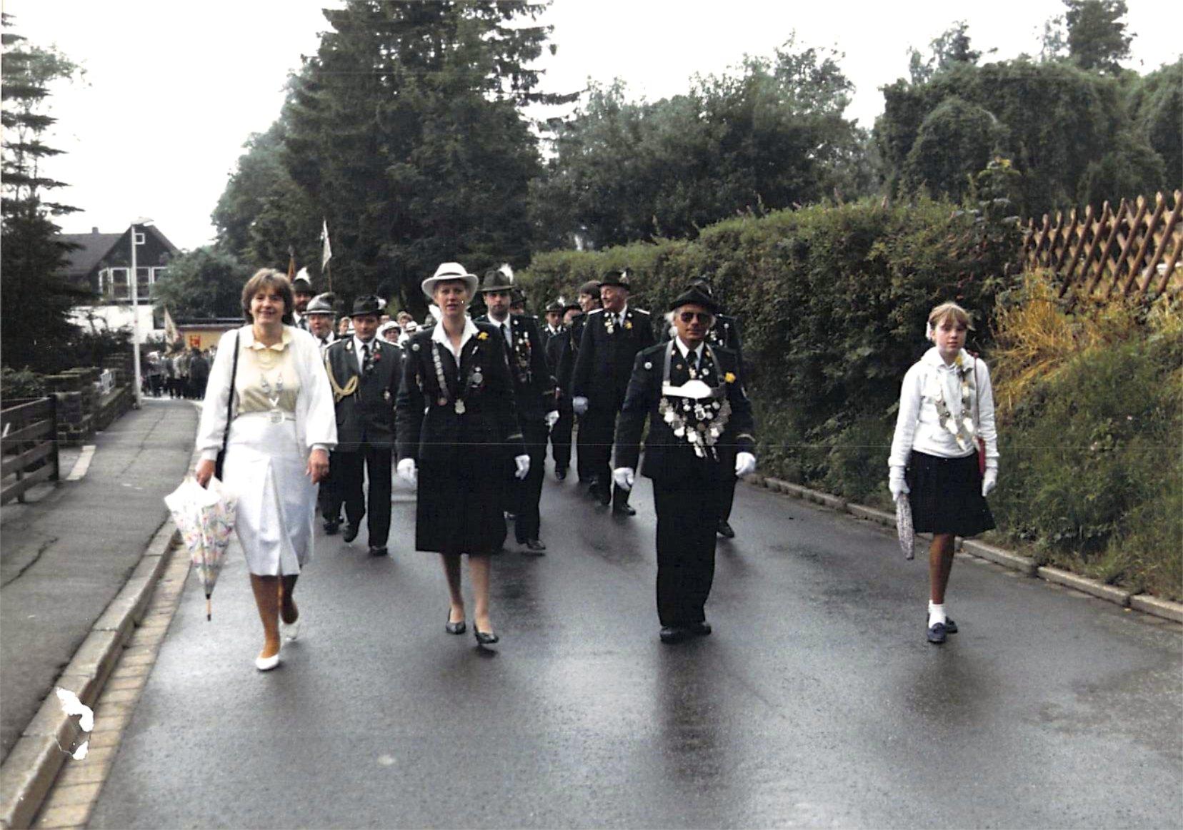 Schützenkönige 1986